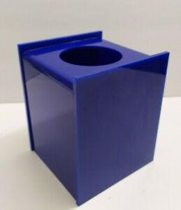 Vintage bathroom Tissue Box Acrylic blue square Holder