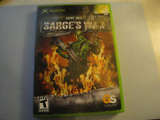 Army Men: Sarge's War (Microsoft Xbox, 2004)Complete Video Global Star-Clean+