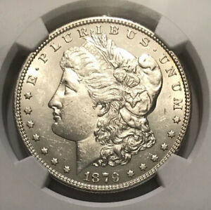 1879 S $1 Morgan Silver Dollar NGC AU 58