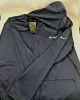 NIKE Men's Therma Dri-Fit Full Zip Fleece Hoodie Sweatshirt  ebay  XL Navy Blue