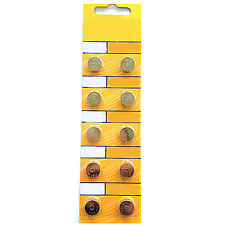 10PCS AG13 LR44 SR44 L1154 357 A76 Button Coin Cell Pack Alkaline Batteries GOOD