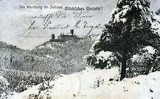 Ansichtskarte Die Wartburg im Schnee Glückliches Neujahr - 00459