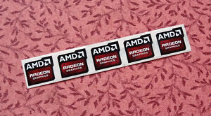 Lot of 10 AMD Radeon Graphics Stickers 16.5 x 19.5mm Case Badges