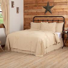 VHC Farmhouse Coverlet Burlap Vintage Star Bedding Cotton Burlap Cotton