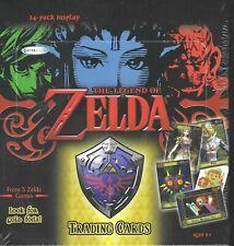 Legend of Zelda Trading Cards Factory Sealed Box 24 Packs Gold Foil Nintendo SFC