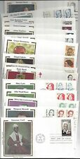 45 FAMOUS MEN & WOMEN + AMERICANA THEMED - COLORANO SILK FDC'S