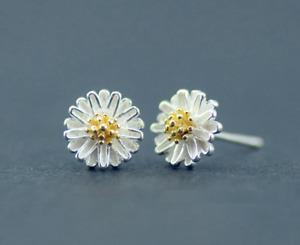 925 Flower Flower Finding Silver Half Daisy Flower Casting