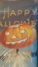 Williams Sonoma Pumpkin Vintage Halloween table runner  New
