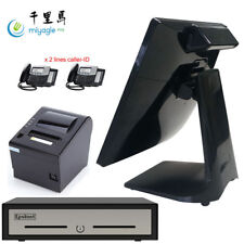 "SlimPOS 15"" All In One Touchscreen J1900 POS System Restaurant Point Of Sale"