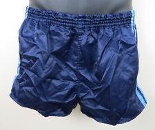 Vintage Adidas 3 Stripe 80s Shorts Blue Running Retro Shiny Nylon Mens D5 Small