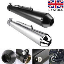 Universal Motorcycle Motorbike Slip On Exhaust Muffler Removable Pipe Silencer