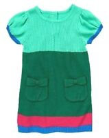NWT CRAZY 8 (Gymboree Brand) Baby Girl Size 3-6 Mo Colorblock Sweater Fall Dress