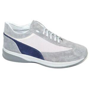 Scarpe uomo grigio calzature comode linea comfort made in italy in vera pelle fo