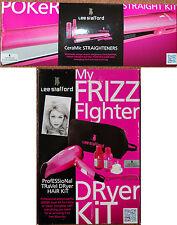 Nuevo viaje Lee Stafford mi Frizz Fighter Secador De Pelo Kit & Poker Alisador