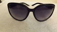 STYLISH OVERSIZED Ladies Sunglasses WITH GLOSSY BLACK FRAMES