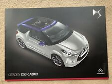 2013 Citroen DS3 Cabrio Car Brochure (UK)