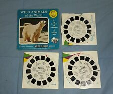Vintage 1958 View-Master B614 Wild Animals of the World 3 Reel Set
