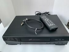 New listing Mitsubishi Hs-U446 Vcr Vhs Video Cassette Player Recorder remote, cable, tested