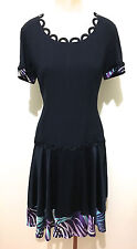 MOSCHINO CHEAP & CHIC Abito Vestito Donna Acetate Rayon Woman Dress Sz.M - 44