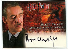 Harry Potter Goblet of Fire Roger Lloyd-Pack  Barty Crouch Autographed Card HP1