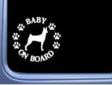 """Baby on Board Basenji L536 6"""" Sticker dog decal"""