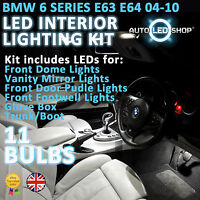 BMW E63 E64 6 SERIES SMD LED INTERIOR UPGRADE COMPLETE KIT SET BULB XENON WHITE