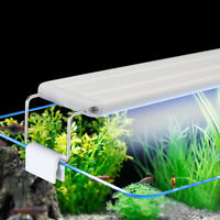 Aquarium Fish Tank LED Overtank Slim Luminaire Light Lamp Adjustable White Blue