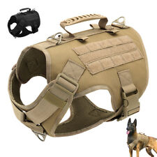 Tactical Dog Harness No Pull Military Large K9 Dogs Service Training Vest&Handle