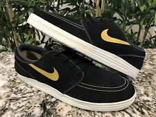 Nike SB Lunar Janoski Black Gold Sz 10 Dunk Supreme Off Cactus Paul Jordan