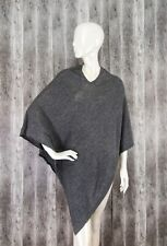 Harati Pashmina Exclusive Pashmina Cashmere Hand Made Soft Poncho Grey One size