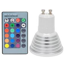 3W GU10 RGB LED Lampe Multicolor Glühbirne Glühlampe Farbwechsel mit Ferbedienun