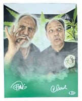 CHEECH MARIN and TOMMY CHONG Autographed Signed 11X14 Matte Photo COA BECKETT