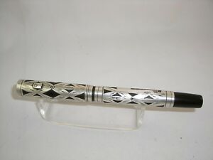 VINTAGE WATERMAN IDEAL 452 Sterling Silver Filigree Overlay FOUNTAIN PEN 1915-17