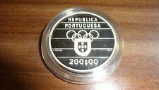 Portugal 200 Escudos 1992 Olympia Silber Münze n94