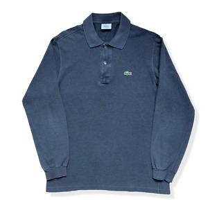 "Vintage LACOSTE Polo Shirt | Size 4 | Medium M | Grey Long Sleeve 42"" Chest"