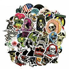 US Seller- 50 skull skeleton vinyl sticker decal Graffiti longboard  Pack