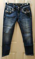 Miss Me Signature Crop Skinny Denim Jeans. Size 26 Rise 7.5 Waist 29X26L Hips 18
