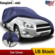 16ft Full Car Cover Waterproof Protection Suv Fits Shlter With Lock Dark Blue Us Fits Jeep