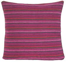 """Pink Red Purple Striped Cushion Cover Designers Guild Fabric Square 16"""""""