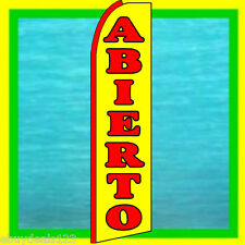 Abierto (Open) Swooper Flag Advertising Sign Feather Flutter Bow Banner