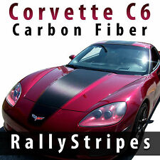 Chevrolet Corvette C6 carbon fiber racing stripes  pre-cut decal set 2005 - 2013