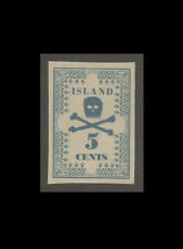 "1850 Hawaii ""Skull Missionary"" 5 Cents, Imperforated - GW Phantom Reproduction"