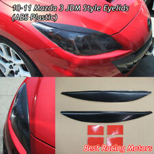 JDM Style Headlights Eyebrows Eyelids (ABS) Fits 10-13 Mazda 3