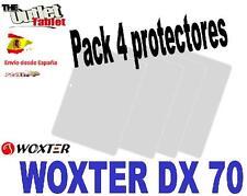 "Pack 4 Protectores para Tablet Woxter DX70 dx 70 7"" pulgadas"