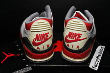 NIKE 1988 AIR JORDAN III 3 WHITE FIRE RED ORIGINAL xi OG iv RARE UNWORN COMPLETE