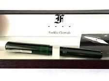 More details for franklin christoph fountain pen, model 31, omnis emerald, 14k m.