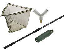 """42"""" Inch Carp/pike Landing Net With Metal Block,6ft Specimen handle & net float"""
