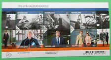 Nederland blok Willem-Alexander 50 jaar 24 april 2017 gestempeld