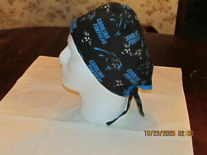Handmade NFL Carolina Panthers Surgical Scrub Hats