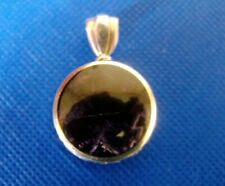Blue John 925 Sterling Silver Pendant **Handmade** with Sodalite Reverse